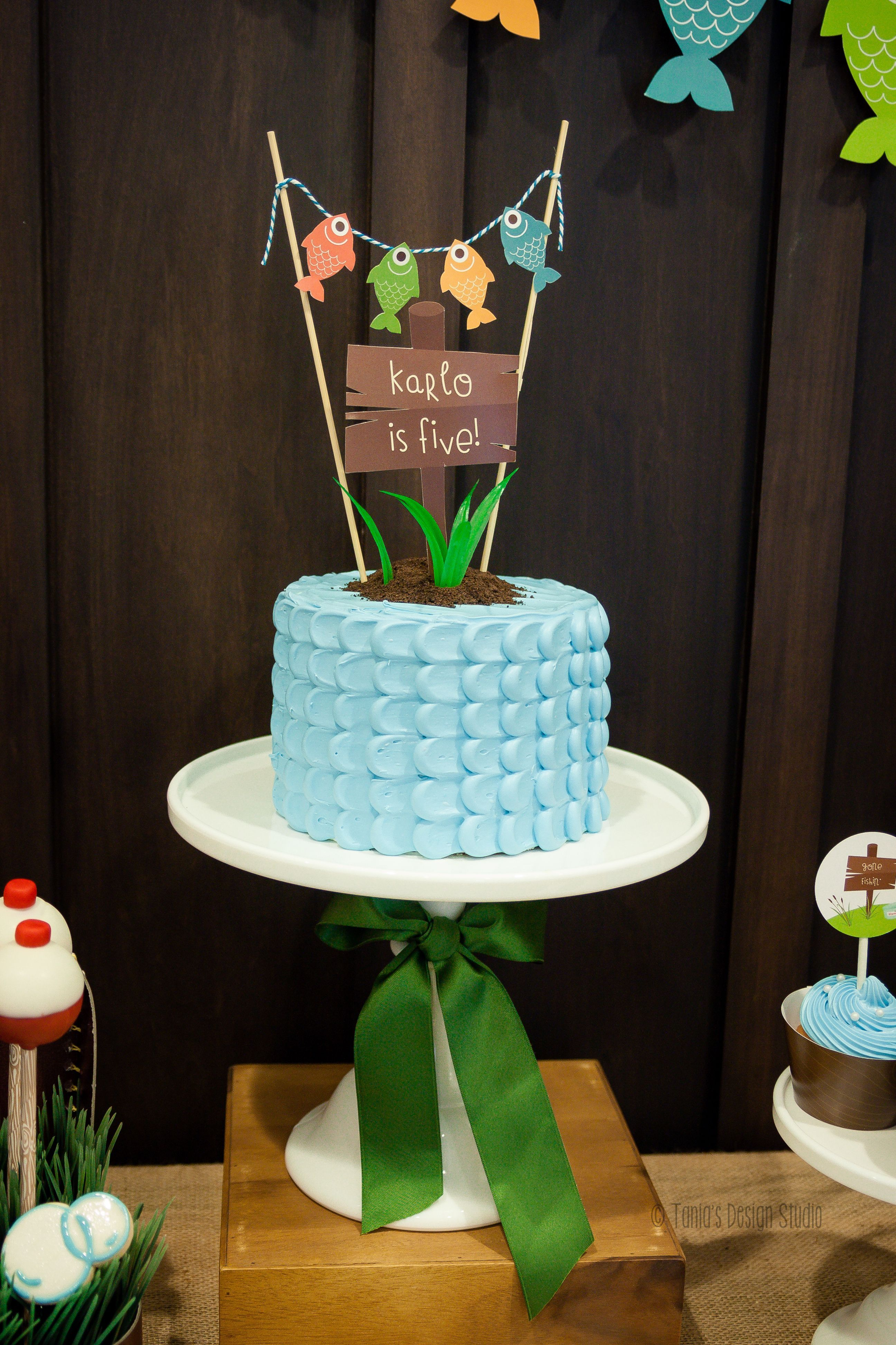 Terrific Gone Fishing Birthday Party Cake With Images Fish Cake Funny Birthday Cards Online Eattedamsfinfo