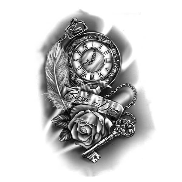 rose tattoo coche pinterest tatuagens ideias de tatuagens e rel gios. Black Bedroom Furniture Sets. Home Design Ideas