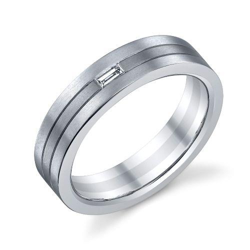 german made christian bauer 18k platinum two tone diamond wedding ring band