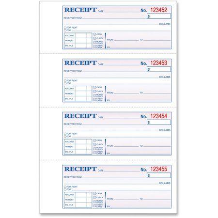 Office Supplies Room Rental Agreement Receipt Template Book