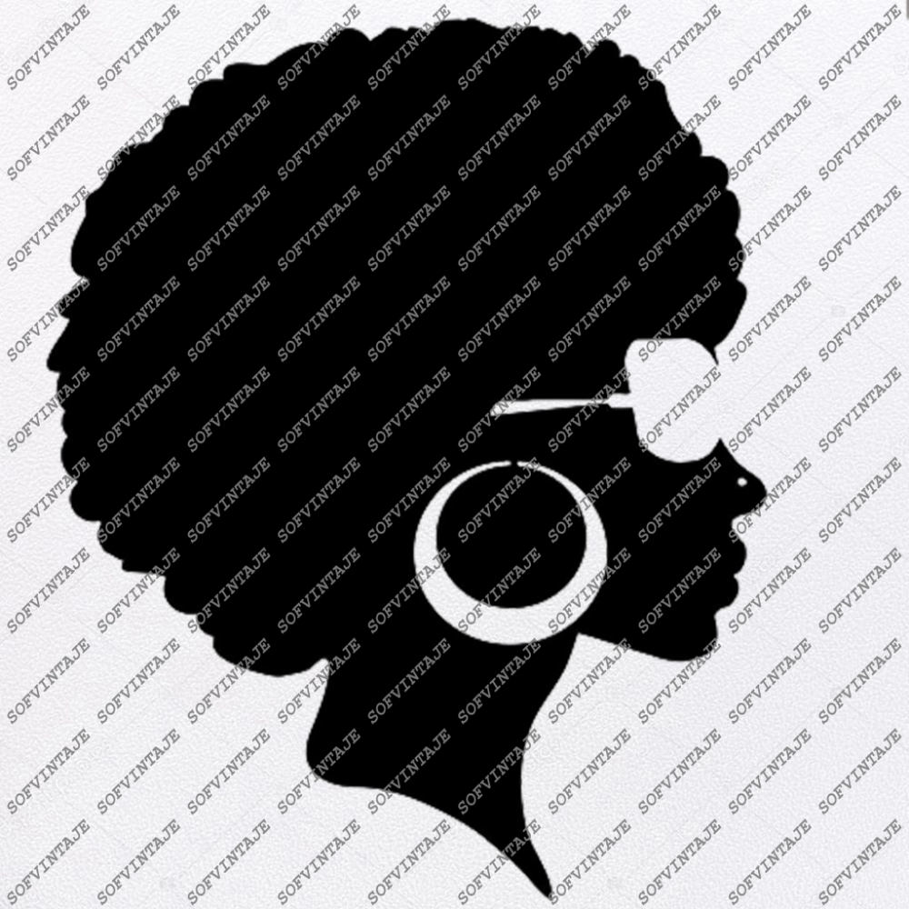 African American Girl Silhouette Svg Files - Svg Files For ...