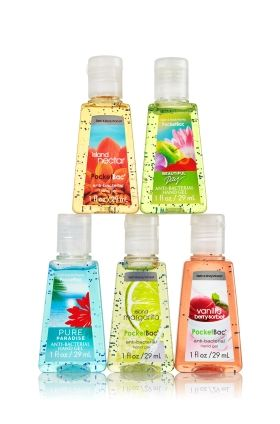 Fragrance Faves 5 Pack Pocketbac Sanitizers Anti Bacterial