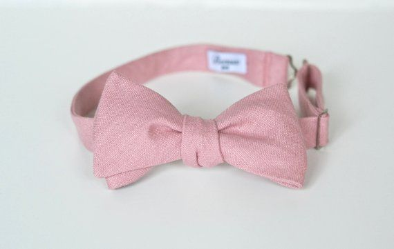 0b438e817ea2 Dusty Pink Linen Self Tie Bow Ties in 2019 | Products | Dusty pink ...