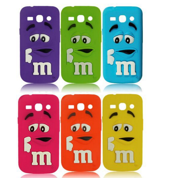 Colors Cute Candy M&M Silicone Case for Samsung Galaxy A3 A5 A7 A9 ...
