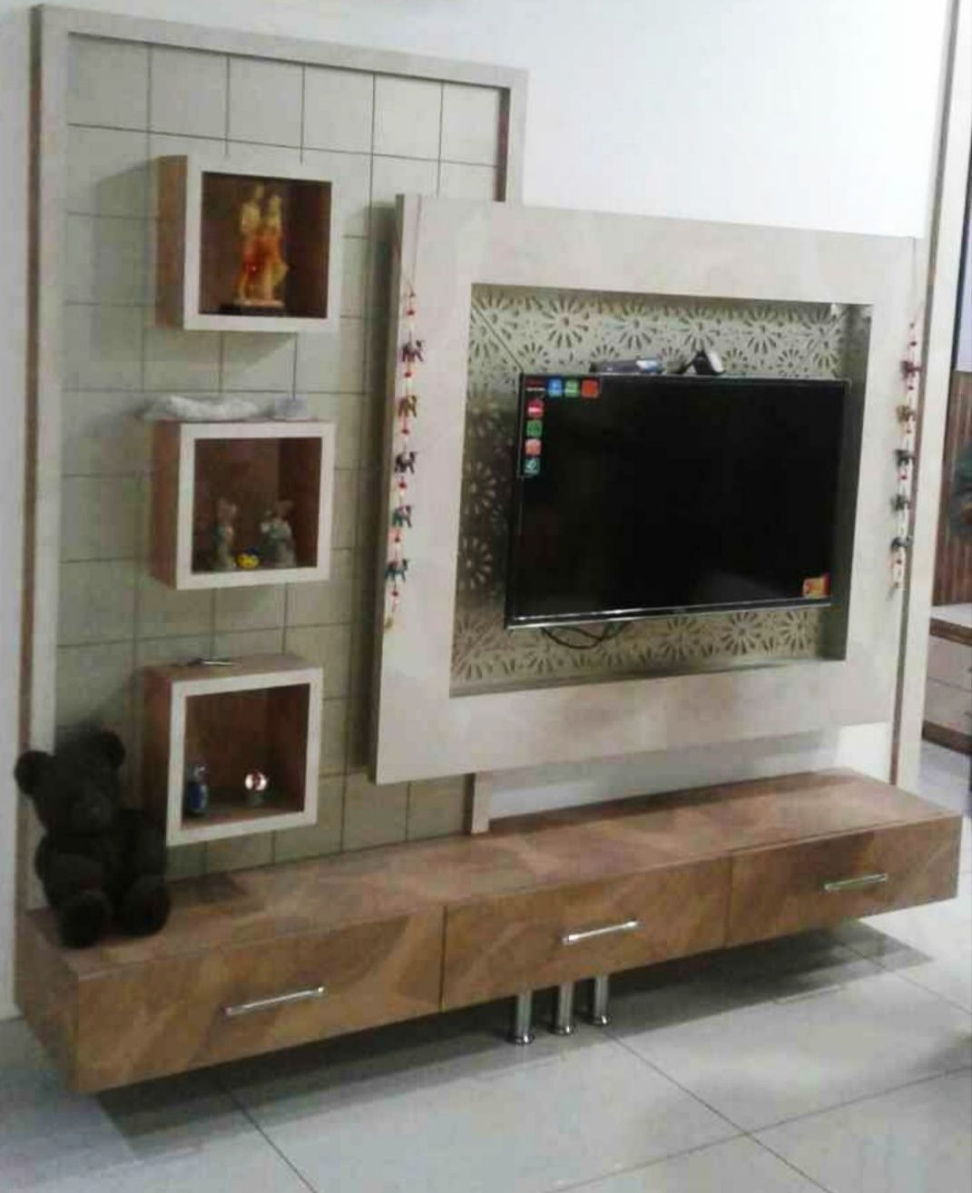 Woodwokingidea Lcd 000114 Wall Design Unit Door Modern Tv