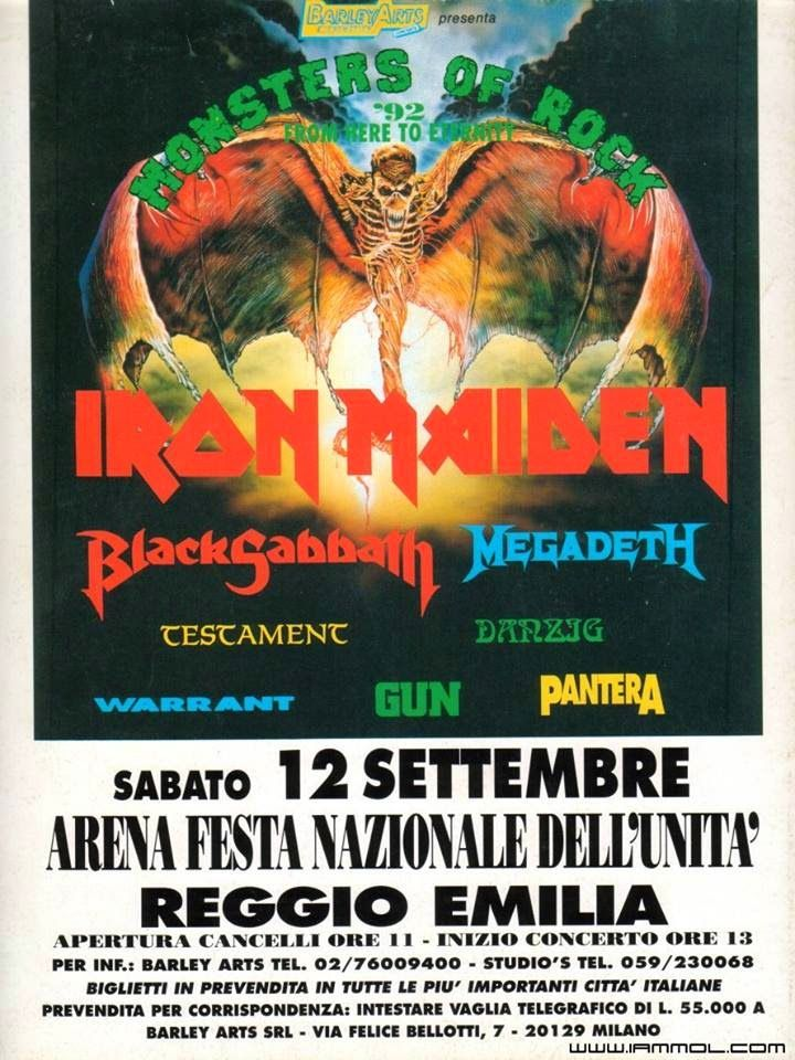 Fear Of The Dark Tour  Monsters of Rock 1992 | Best Band