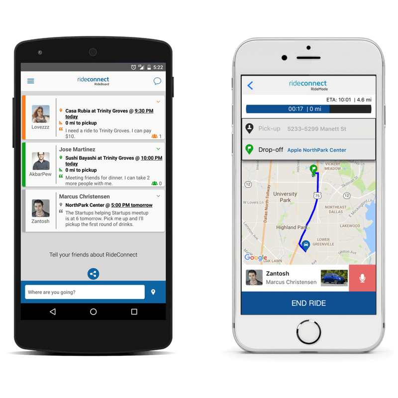 RideConnect is a ridesharing platform with which you can