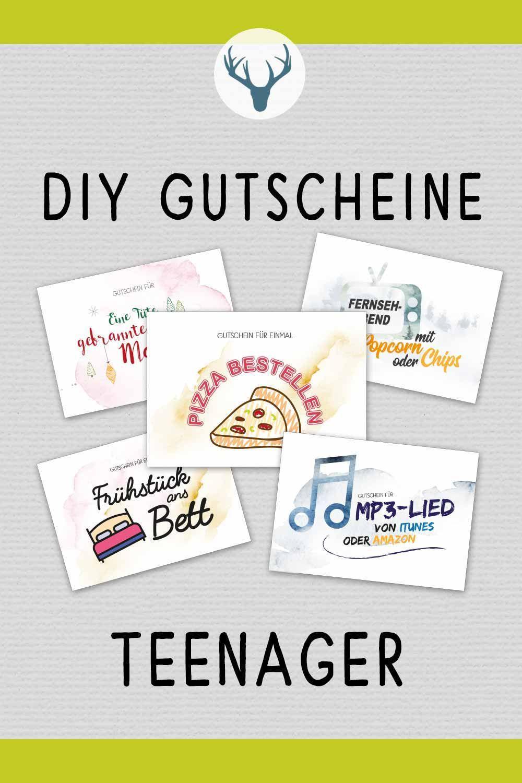 Gutschein für Teenager #selbstgemachtezimmerdeko