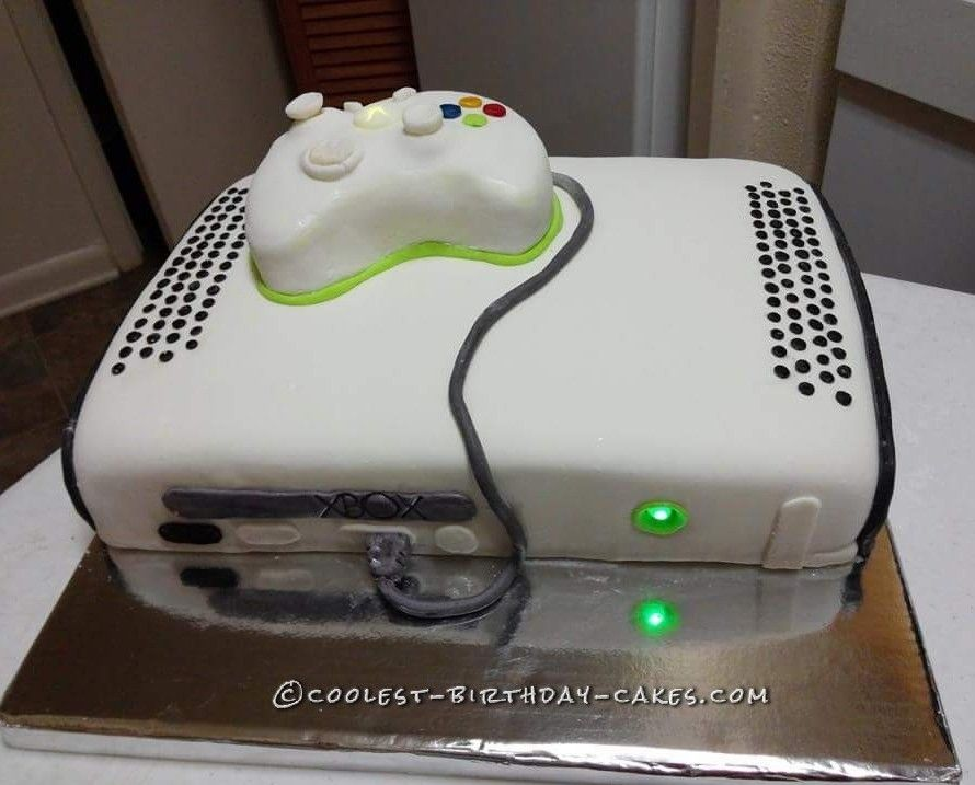 Brilliant Coolest Light Up Xbox Cake Met Afbeeldingen Bakken Taart Funny Birthday Cards Online Alyptdamsfinfo