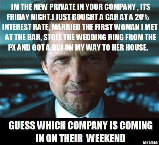 I M The New Private In Your Company Don T Be This Private