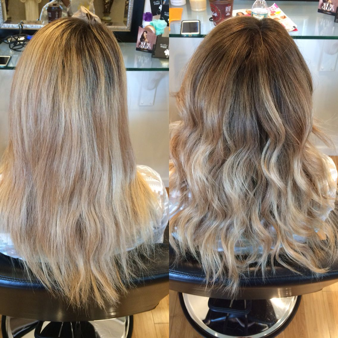 37+ Reverse balayage to blend roots ideas