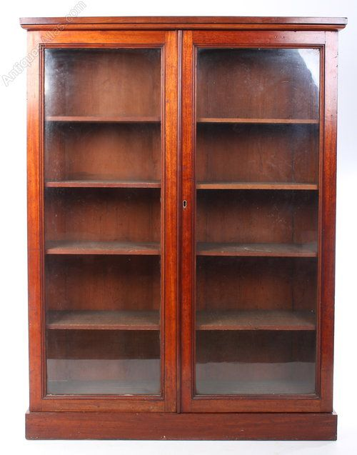 victorian glazed mahogany bookcase antiques atlas - Mahogany Bookshelves