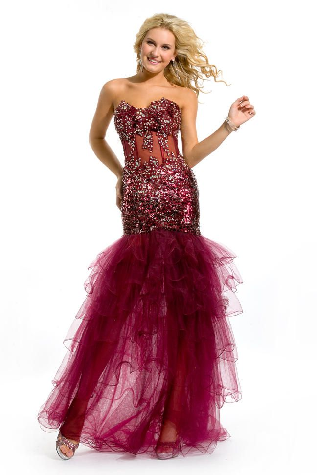 Party Time Long Prom Dresses and Gowns- Style Number:6054
