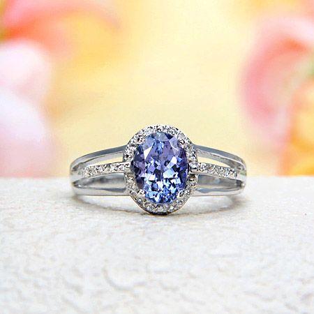 White Topaz, Tanzanite Ring. Love