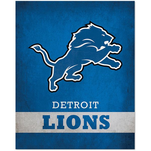 Artissimo Designs Detroit Lions Pride Logo Wall Art ($15) ? liked on Polyvore featuring  sc 1 st  Pinterest & Artissimo Designs Detroit Lions Pride Logo Wall Art ($15) ? liked ...