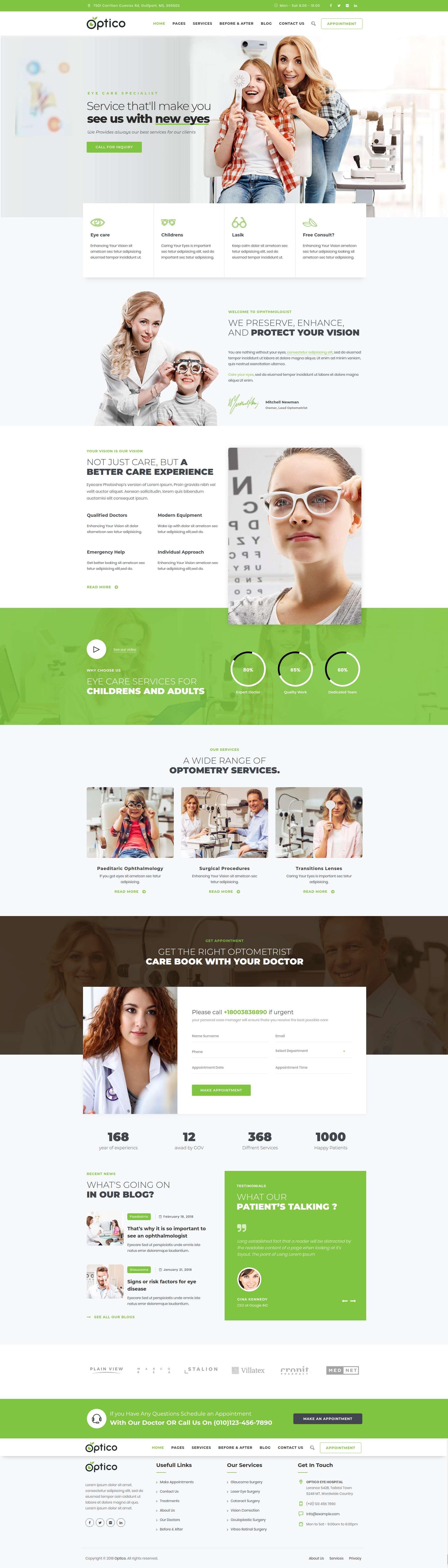 Optico Optometrist Eyecare Wordpress Theme Wordpress Theme Optometrist Eye Care