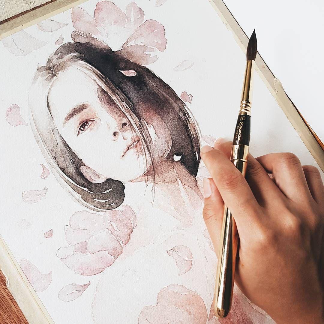 Watercolorist dollicandy waterblog акварель aquarelle painting drawing art