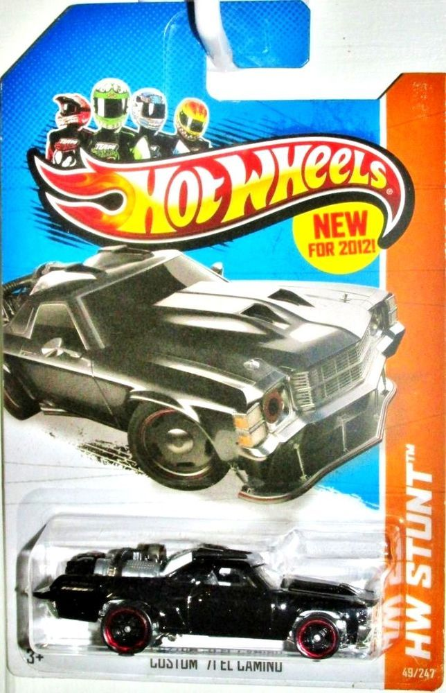 Custom 1971 Chevy El Camino Hot Wheels 2013 Hw Stunt 49 247 Black