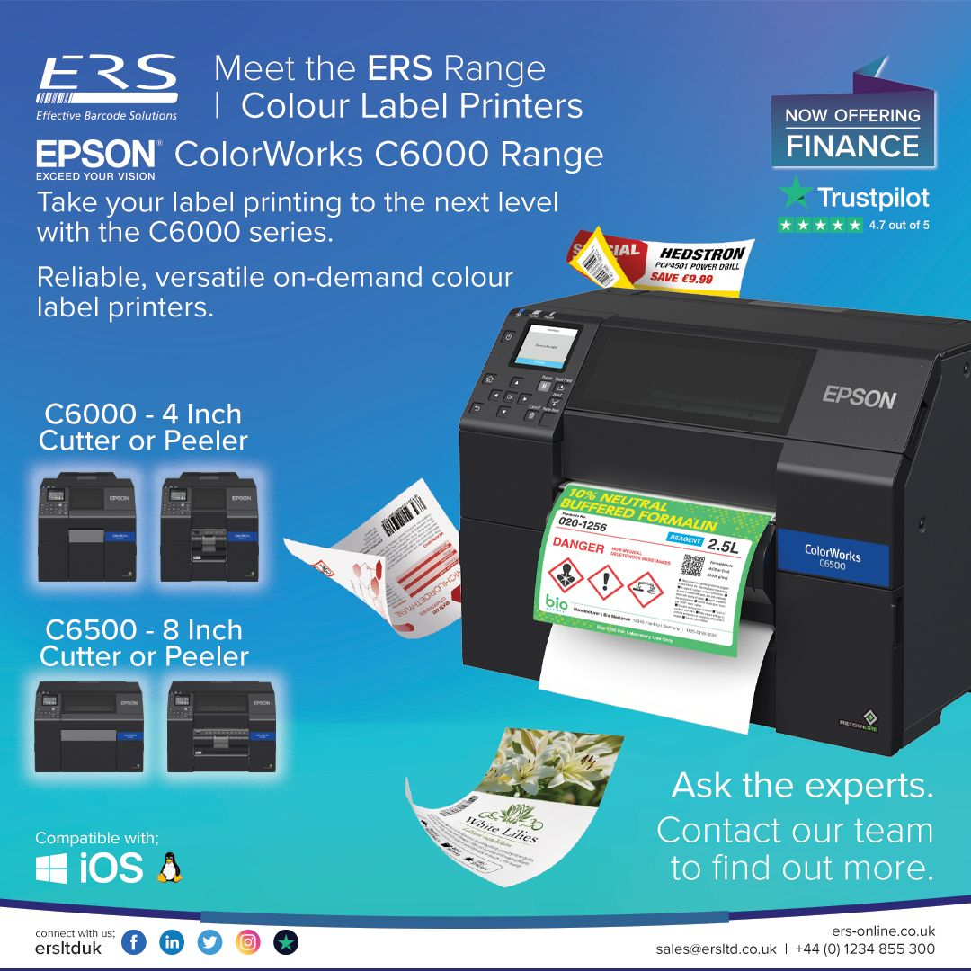 Whether It S Labels For Produce Chemical Warnings Or For Manufacturing And Inventory Management There S An Eps In 2020 Label Printer Printing Labels Inkjet Printing