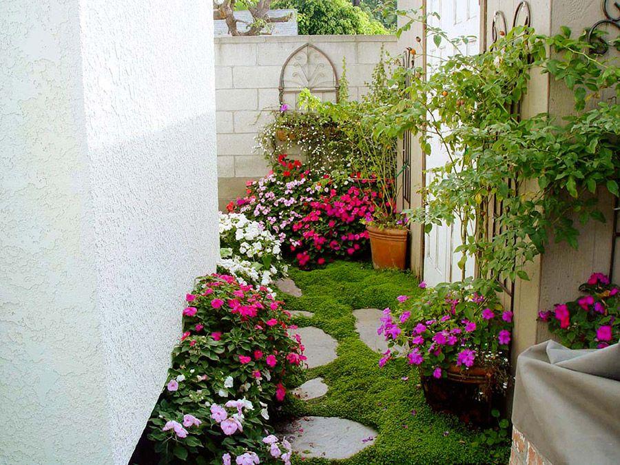 Jardines en espacios peque os mi casa pinterest for Jardines pequenos esquineros