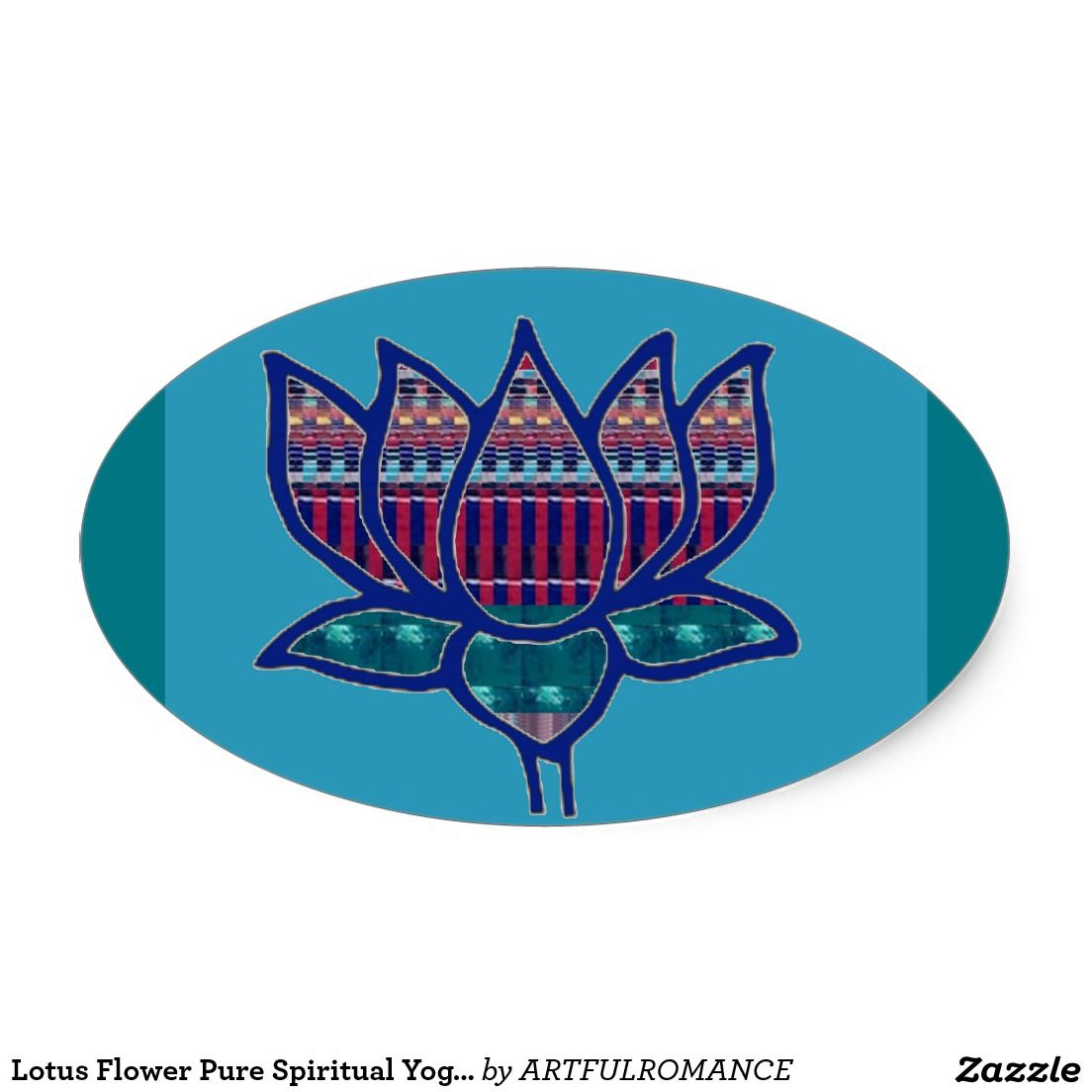Lotus flower pure spiritual yoga meditation oval sticker 101 lotus flower pure spiritual yoga meditation oval sticker mightylinksfo