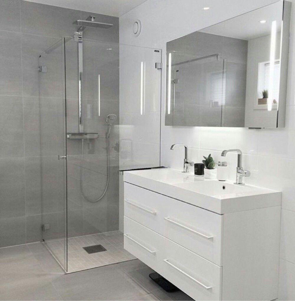 Pin de iris prada en minimalists ba os modernos cuarto - Banos grises ...