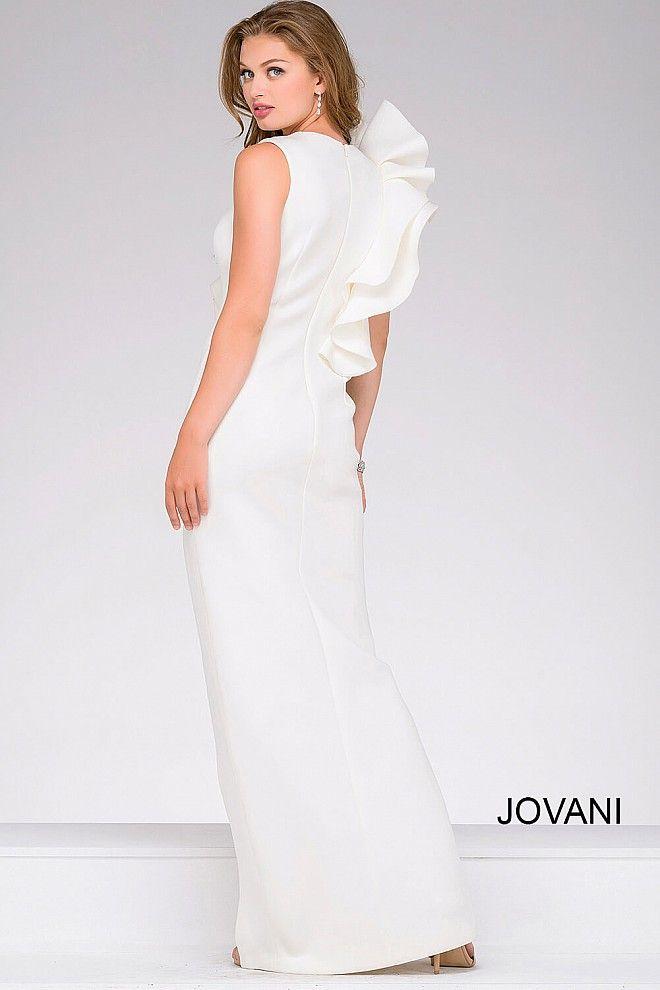 NEED RETAILER - White Elegant Scuba High Slit Prom Dress 49868 ...