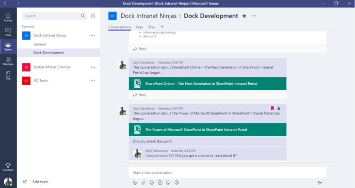 Microsoft Teams Discussion Board Sharepoint Sharepoint Intranet Microsoft