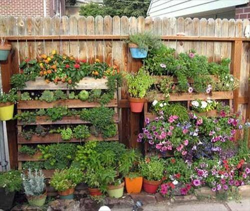 Herb Garden On Fence: Pin By SoulouposeTo On ΚΑΤΑΣΚΕΥΕΣ ME ΠΑΛΕΤΕΣ ΓΙΑ