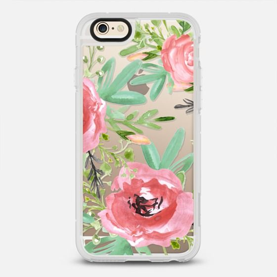 Red Flowers Watercolor Cute Iphone 7 Cases Custom Iphone Cases