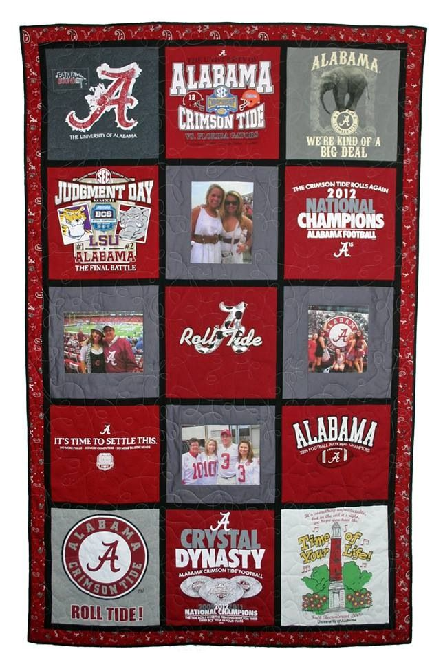 Awesome Alabama T Shirt Quilt Love It Need To Make This For The Boy Alabama Quilt Shirt Quilt Tee Shirt Quilt