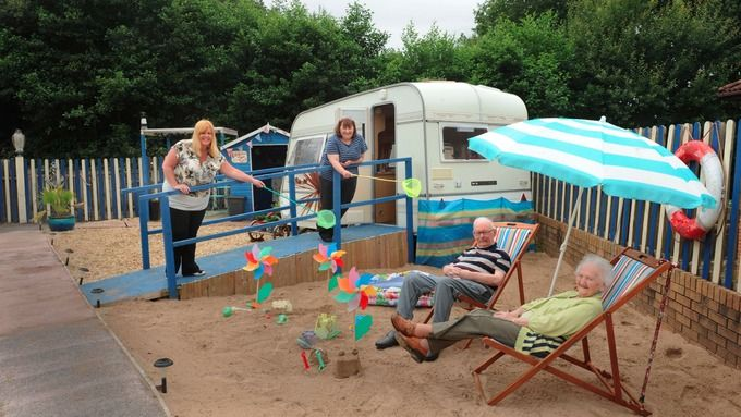 Life's a beach for West Wales care home residents