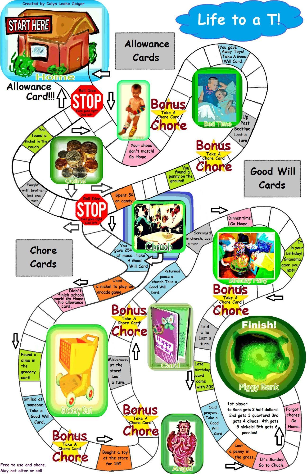 Christian Money Board Game Printable Printable Board Games Money Games For Kids Learning Games For Kids