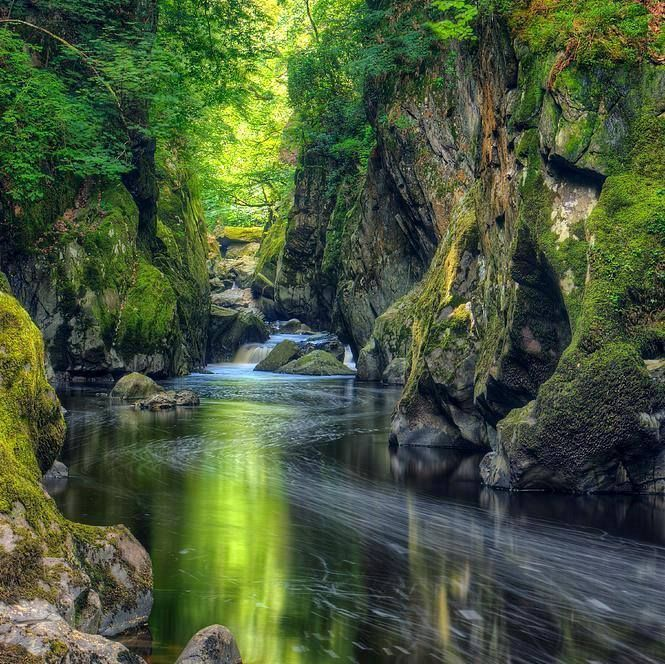 Beautiful Nature View: Fairy Glen, Conwy River, North Wales