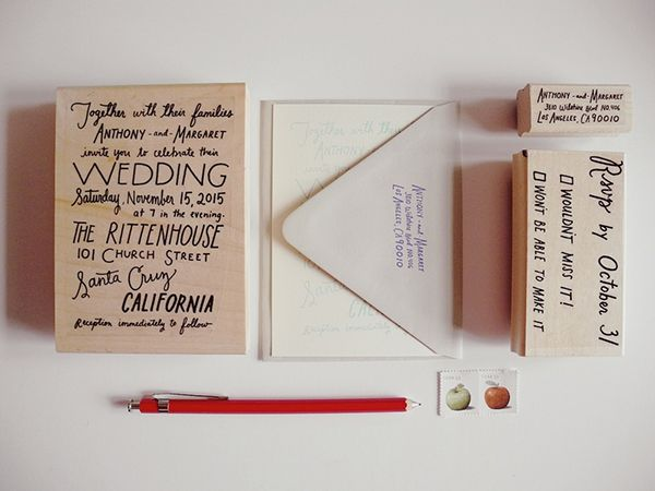 Custom Playful Wedding Invitations from Paper Pastries Wedding