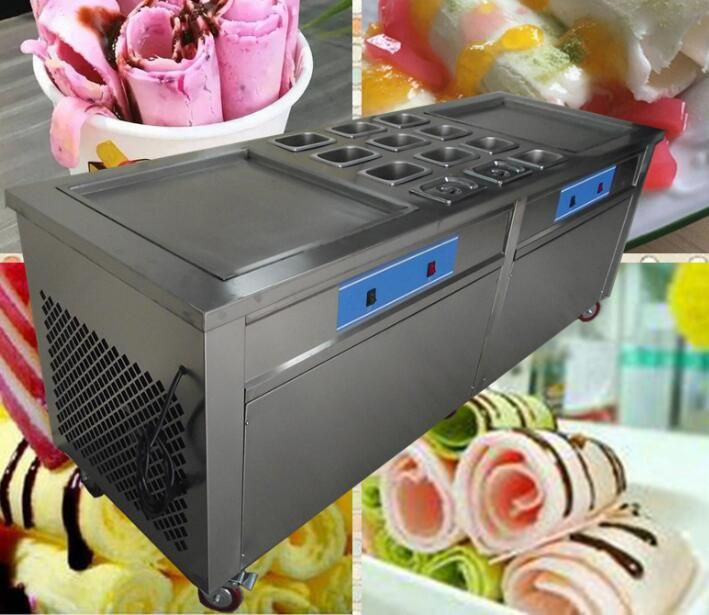 Big Commercial Use Fried Ice Cream Machine Make Money So Easy