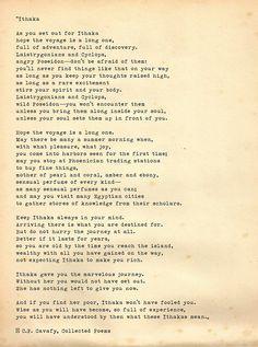 ithaca poem