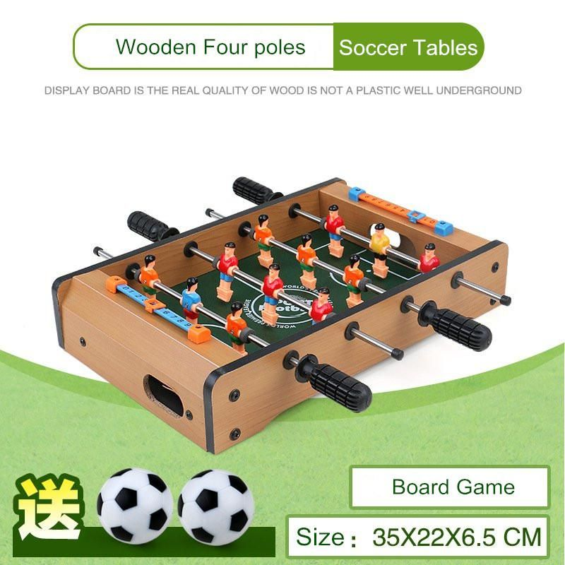 35 22 6 5cm Indoor Mini Soccer Tables Football Board Game Parent Child Interaction Toys Wooden Four Poles Mini Table Football Soccer Table Table Football Football Board Game