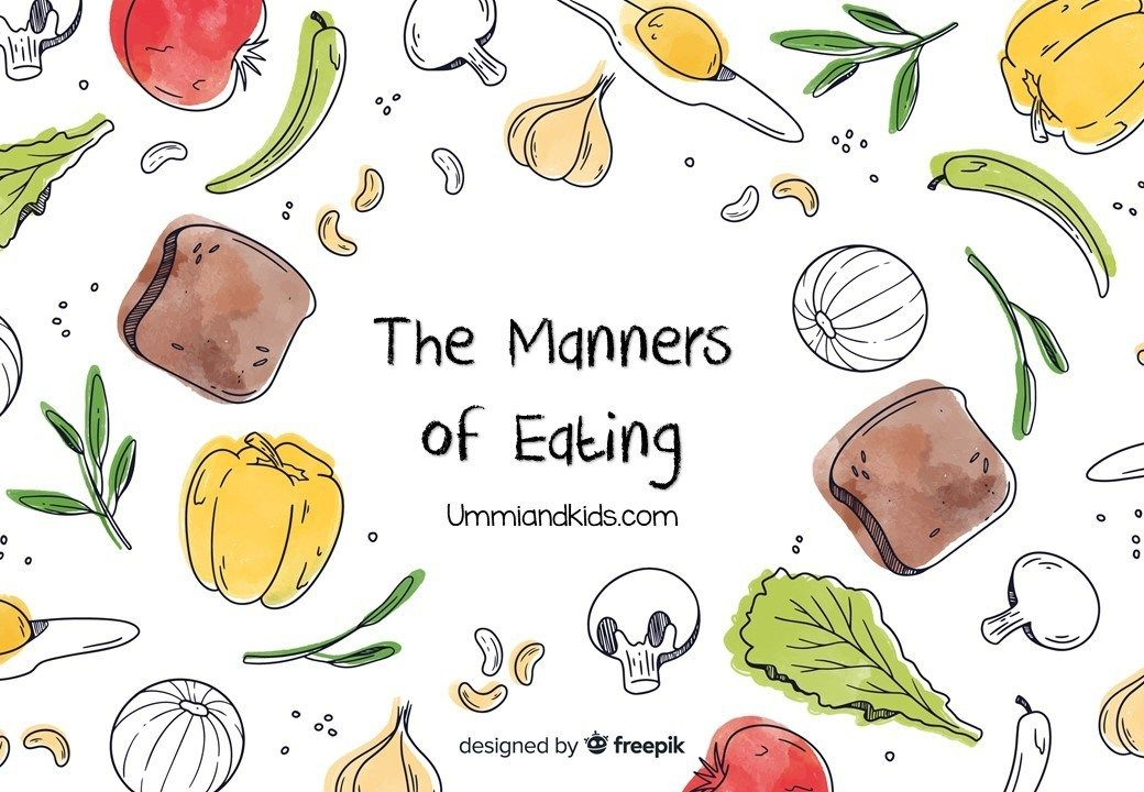 Free printable ebook on the manners of eating for kids