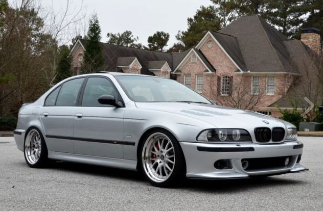 BMW E39 M5 2003 Titanium silver, highly customized an