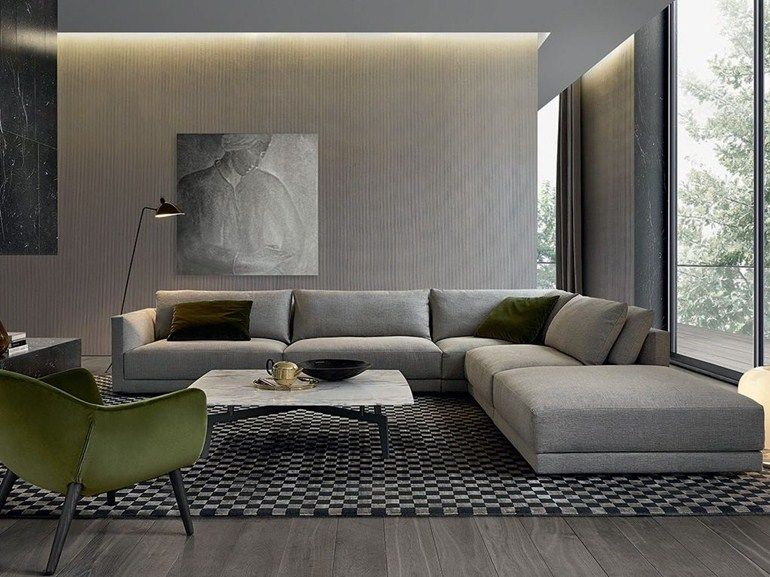 The Catalogue And Request Prices Of Poliform Corner Sectional Fabric Sofa Bristol Design Jean Marie Maud