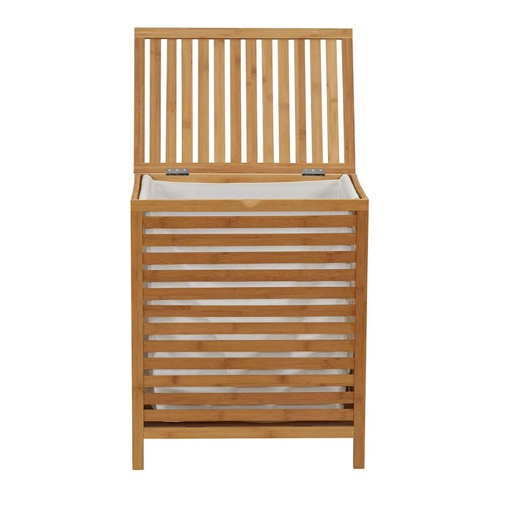Factory Supply Discount Price Bamboo Collapsible Laundry Basket