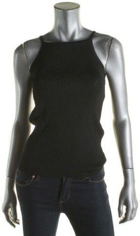 Lauren Ralph Lauren Womens Solid Ribbed Tank Top