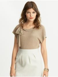 *Banana Republic Inspiration* - want to make a t-shirt with a tie for a bow on the collar