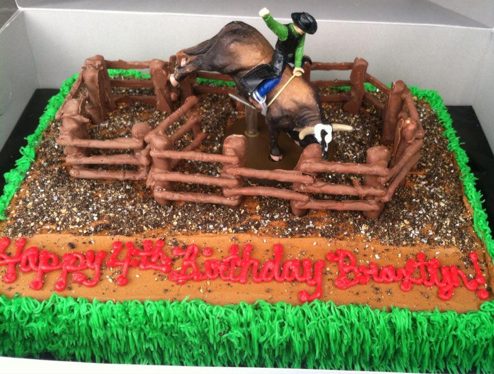RodeoBull Rider Birthday Cake Nelly May Cakes Cookies