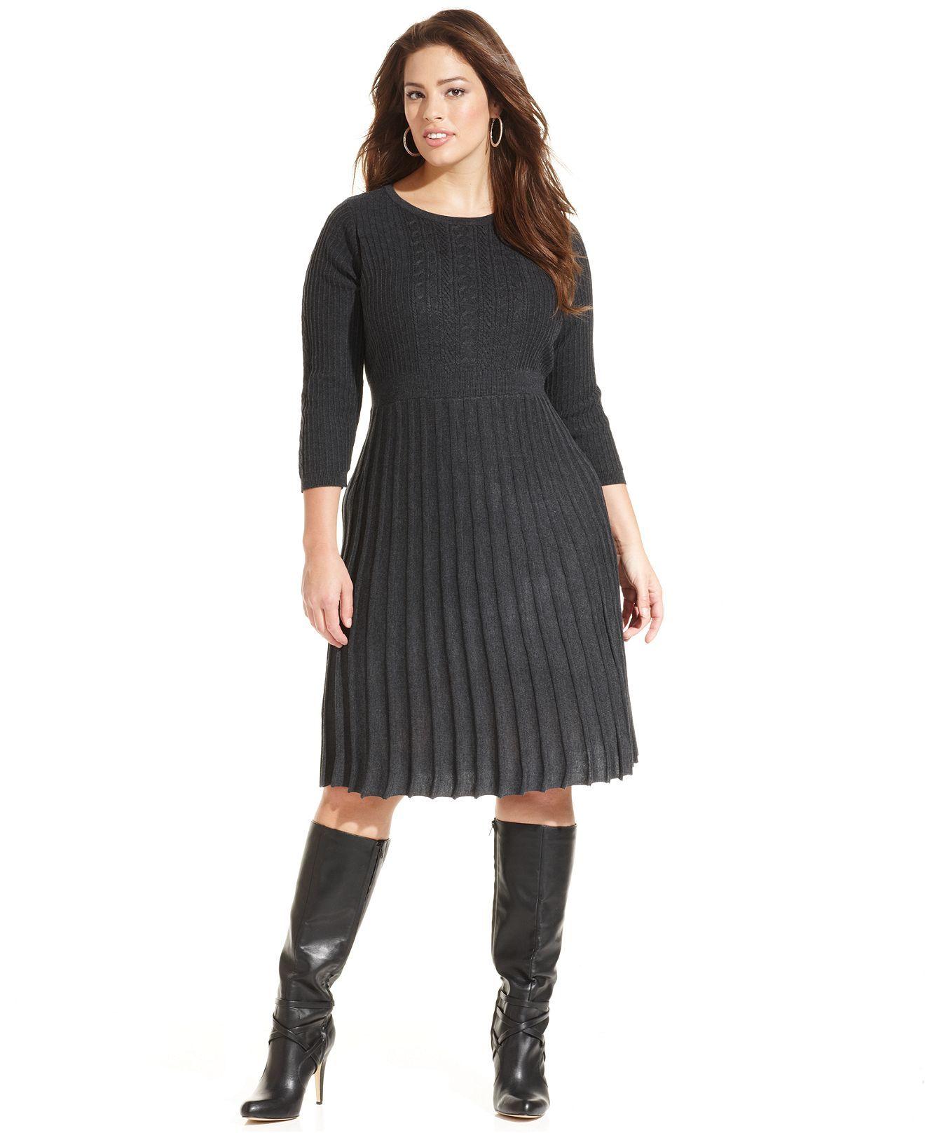 32+ Plus size sweater dress ideas