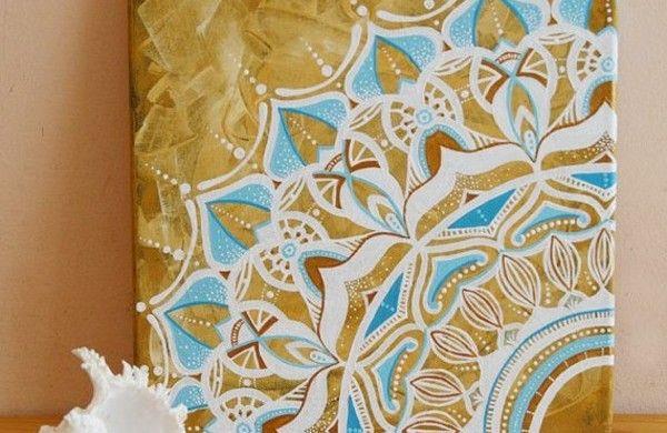 Mandala Vorlagen leinwand dekoartikel