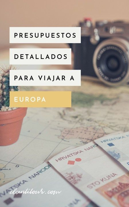 Cuánto sale un viaje a Europa
