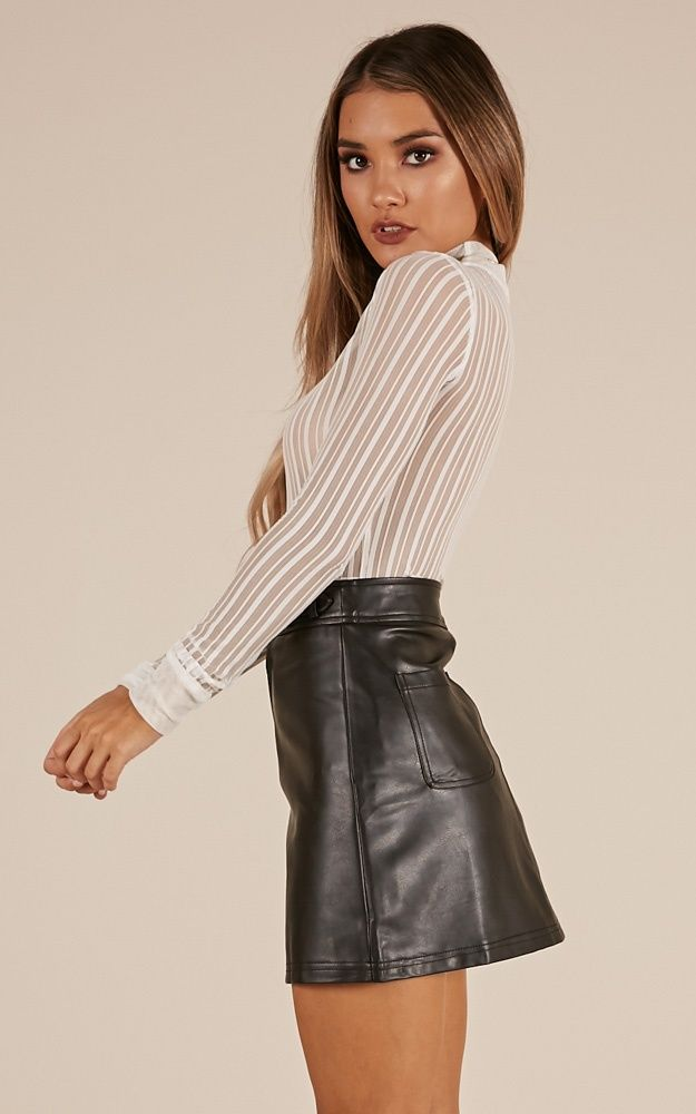 Party People Skirt In Black Leatherette Produced B