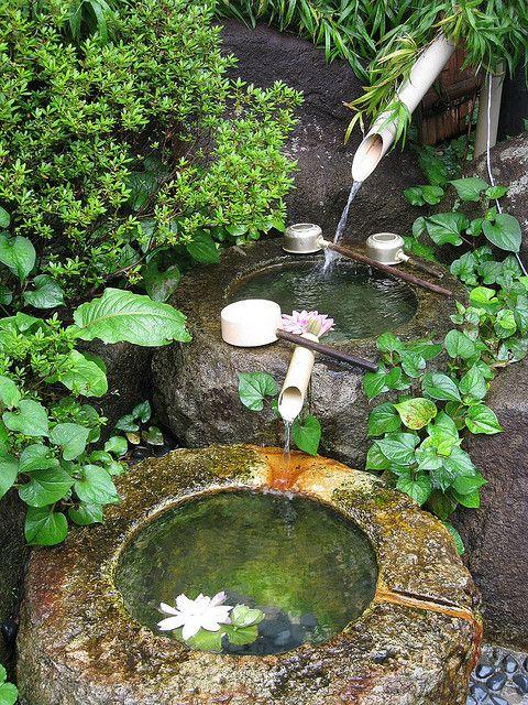 Tsukubai Water Features In The Garden Container Water Gardens
